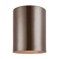 Sea Gull 7813801EN3-10 Cylinders 1 Light 5 inch Bronze Outdoor Flush Mount