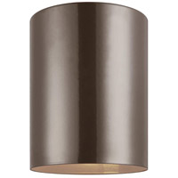 Cylinders LED 5 inch Bronze Outdoor Flush Mount