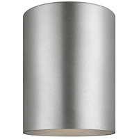 Cylinders LED 5 inch Painted Brushed Nickel Outdoor Flush Mount