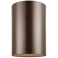 Sea Gull 7813901-10 Outdoor Bullets 1 Light 6 inch Bronze Outdoor Flush Mount