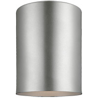 Bullets 5 inch Painted Brushed Nickel Flush Mount Ceiling Light