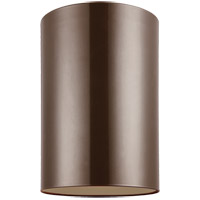 Outdoor Bullets 1 Light 6 inch Bronze Outdoor Flush Mount