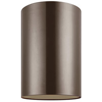 Cylinders LED 6 inch Bronze Outdoor Flush Mount