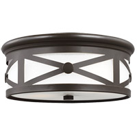 Sea Gull Lakeview 2 Light Outdoor Flush Mount in Antique Bronze 7821402BLE-71