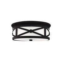 Lakeview 2 Light 13 inch Black Flush Mount Ceiling Light