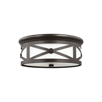 Lakeview 2 Light 13 inch Antique Bronze Flush Mount Ceiling Light