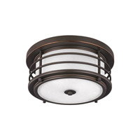 Sauganash 2 Light 12 inch Antique Bronze Outdoor Flush Mount