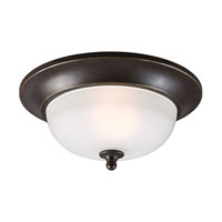 Sea Gull Humboldt Park 1 Light Outdoor Flush Mount in Burled Iron 7827401-780