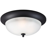 Sea Gull Humboldt Park 3 Light Outdoor Flush Mount in Black 7827403BLE-12
