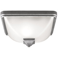Irving Park 1 Light 12 inch Weathered Pewter Outdoor Flush Mount in Fluorescent