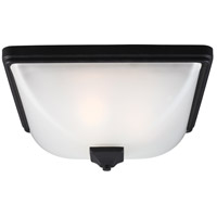 Sea Gull Irving Park 3 Light Outdoor Flush Mount in Black 7828403BLE-12