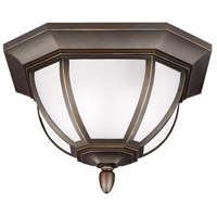 Childress 2 Light 14 inch Antique Bronze Outdoor Ceiling Flush Mount in Standard
