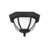 Childress 2 Light 14 inch Black Outdoor Flush Mount