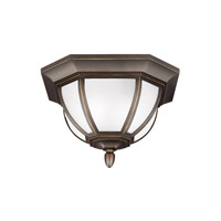Childress 2 Light 14 inch Antique Bronze Outdoor Flush Mount