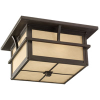 Medford Lakes 2 Light 13 inch Statuary Bronze Outdoor Ceiling Fixture in Standard
