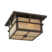Sea Gull Lighting Medford Lakes 2 Light Outdoor Ceiling Fixture in Statuary Bronze 78880BLE-51