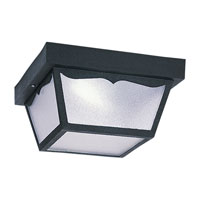 Sea Gull Lighting Signature 1 Light Flush Mount in Black 79021PBLE-12