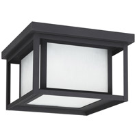 Sea Gull 7903997S-12 Hunnington LED 10 inch Black Outdoor Flush Mount