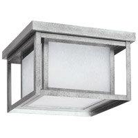 Sea Gull 7903997S-57 Hunnington LED 10 inch Weathered Pewter Outdoor Flush Mount