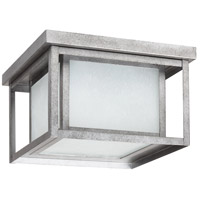 Seagull Hunnington 2 Light Outdoor Flush Mount in Weathered Pewter 79039BLE-57