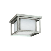 Sea Gull 79039EN3-57 Hunnington 2 Light 10 inch Weathered Pewter Outdoor Flush Mount