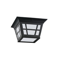 Sea Gull 79131EN3-12 Herrington 2 Light 11 inch Black Outdoor Flush Mount