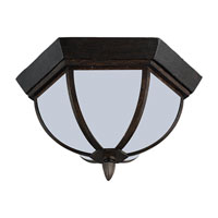 Sea Gull Lighting Ardsley Court 1 Light Outdoor Ceiling Fixture in Textured Rust Patina 79136BLE-08 photo thumbnail