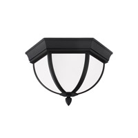 Sea Gull Lighting Bakersville 2 Light Outdoor Ceiling Fixture in Black 79136BLE-12