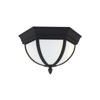 Sea Gull 79136EN3-12 Wynfield 2 Light 13 inch Black Outdoor Flush Mount
