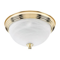 Sea Gull Lighting Ridley 3 Light Flush Mount in Polished Brass 79178BLE-02 photo thumbnail