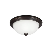 Sea Gull Signature 1 Light Flush Mount in Burnt Sienna 79263BLE-710