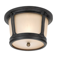 Sea Gull Lighting Cape May 1 Light Outdoor Ceiling Fixture in Burled Iron 79340BLE-780