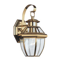 Sea Gull 8037-02 Lancaster 1 Light 12 inch Polished Brass Outdoor Wall Lantern