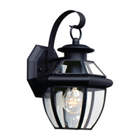 Sea Gull 8037-12 Lancaster 1 Light 12 inch Black Outdoor Wall Lantern photo thumbnail