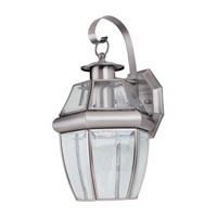 Sea Gull Lighting Lancaster 1 Light Outdoor Wall Lantern in Antique Brushed Nickel 8037-965 photo thumbnail