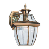Sea Gull Lighting Lancaster 1 Light Outdoor Wall Lantern in Polished Brass 8038-02 photo thumbnail