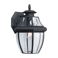 Sea Gull Lighting Lancaster 1 Light Outdoor Wall Lantern in Black 8038-12