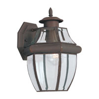 Sea Gull Lighting Lancaster 1 Light Outdoor Wall Lantern in Antique Bronze 8038-71