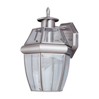 Lancaster 1 Light 12 inch Antique Brushed Nickel Outdoor Wall Lantern