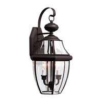 Sea Gull Lighting Lancaster 2 Light Outdoor Wall Lantern in Black 8039-12