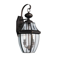 Sea Gull 8039-71 Lancaster 2 Light 21 inch Antique Bronze Outdoor Wall Lantern
