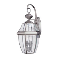 Sea Gull 8039-965 Lancaster 2 Light 21 inch Antique Brushed Nickel Outdoor Wall Lantern photo thumbnail