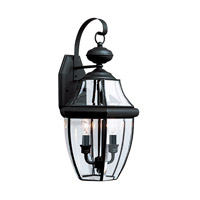 Sea Gull 8039EN-12 Lancaster 2 Light 21 inch Black Outdoor Wall Lantern