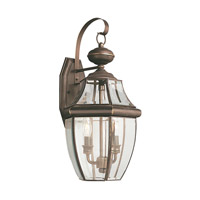 Sea Gull 8039EN-71 Lancaster 2 Light 21 inch Antique Bronze Outdoor Wall Lantern