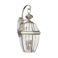 Lancaster 2 Light 21 inch Antique Brushed Nickel Outdoor Wall Lantern