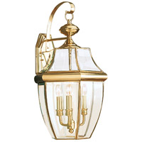 Lancaster 3 Light 23 inch Polished Brass Outdoor Wall Lantern
