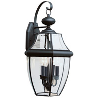 Sea Gull 8040-12 Lancaster 3 Light 23 inch Black Outdoor Wall Lantern