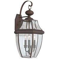 Sea Gull Lighting Lancaster 3 Light Outdoor Wall Lantern in Antique Bronze 8040-71