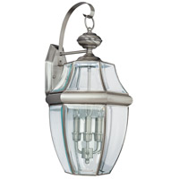 Sea Gull Lighting Lancaster 3 Light Outdoor Wall Lantern in Antique Brushed Nickel 8040-965 photo thumbnail