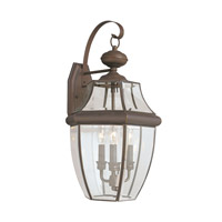 Sea Gull 8040EN-71 Lancaster 3 Light 23 inch Antique Bronze Outdoor Wall Lantern